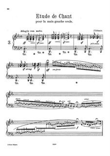 Étude de Chant for the Left Hand Alone, Op.330: For a single performer by Jacob Schmitt