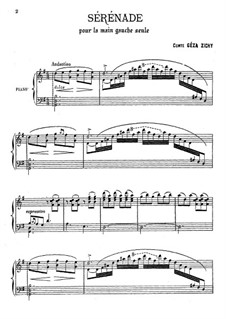 Serenade for the Left Hand Alone: For Piano by Géza Zichy