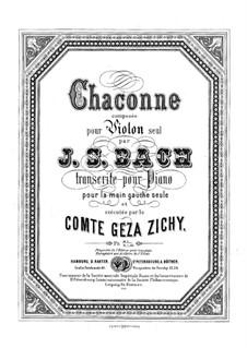 Partita for Violin No.2 in D Minor, BWV 1004: Chaconne. Transcription for the left Hand alone by Johann Sebastian Bach