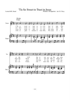'Tis So Sweet to Trust in Jesus: Piano-vocal score by William (James) Kirkpatrick