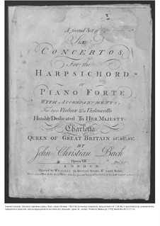Six Concertos for Harpsichord (or Piano) and Strings, Op.7: Harpsichord (or piano) part, W C55-60 by Johann Christian Bach