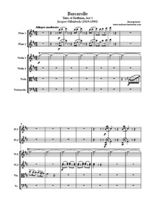 Barcarole: For salon orchestra by Jacques Offenbach