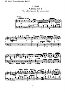 Wie schön leuchtet der Morgenstern, BWV 1: Piano-vocal score by Johann Sebastian Bach