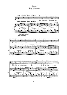 Two Songs, Op.2: No.2 Les matelots (The Sailors) in E Flat Major by Gabriel Fauré
