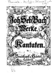 Christ unser Herr zum Jordan kam, BWV 7: Piano-vocal score by Johann Sebastian Bach