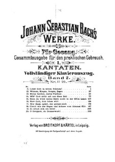 Lobet Gott in seinen Reichen, BWV 11: Piano-vocal score by Johann Sebastian Bach