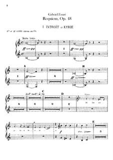 Parts: French horns part by Gabriel Fauré