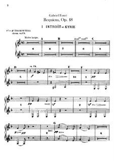 Parts: Trumpets part by Gabriel Fauré