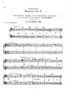 Parts: Trombones part by Gabriel Fauré