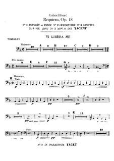 Parts: Timpani part by Gabriel Fauré