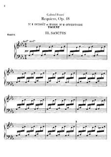 Parts: Harp part by Gabriel Fauré