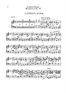Parts: Organ part by Gabriel Fauré