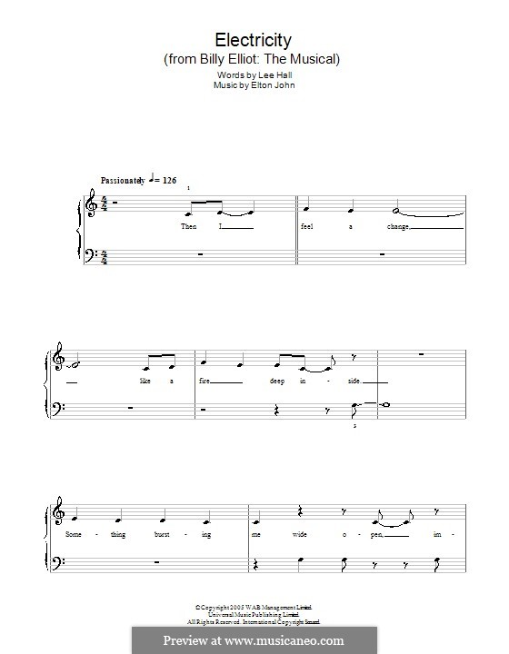 Electricity: For piano by Elton John