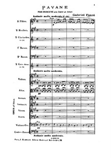 Pavane, Op.50: For orchestra and choir by Gabriel Fauré