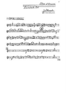 Freue dich, erlöste Schar (Rejoice, Redeemed Host), BWV 30: Oboe d'amore part by Johann Sebastian Bach