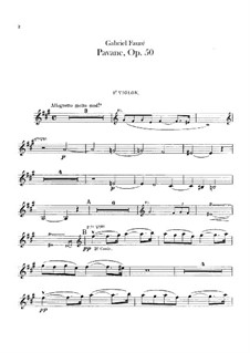 Pavane, Op.50: Violins parts by Gabriel Fauré