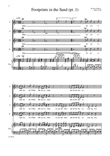 Footprints in the Sand (pt.1) SATB: Footprints in the Sand (pt.1) SATB by John Lovell