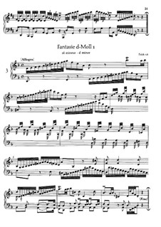 Fantasia in D Minor, BR A 21, F 18: For a single performer by Wilhelm Friedemann Bach