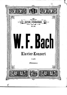 Concerto for Harpsichord and Orchestra in A Minor, F 45: Version for two pianos four hands by Wilhelm Friedemann Bach