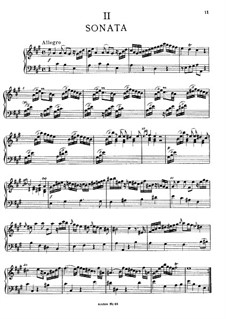 Sonata for Keyboard in A Major, BR A 15, F 8: For a single performer by Wilhelm Friedemann Bach