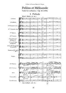 Pelléas et Mélisande, Op.80: Full score by Gabriel Fauré
