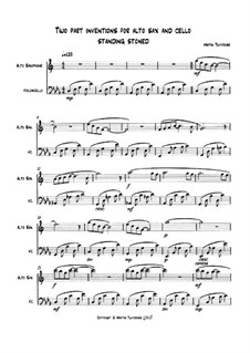 Two part inventions for Alto Saxophone and Cello: Standing stoned: Two part inventions for Alto Saxophone and Cello: Standing stoned by Martin Twycross