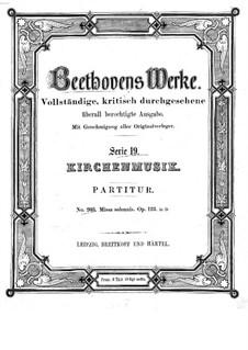 Missa Solemnis, Op.123: Full score by Ludwig van Beethoven