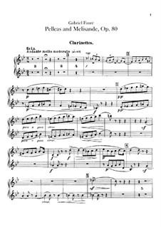 Pelléas et Mélisande, Op.80: Clarinets part by Gabriel Fauré