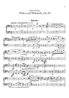 Pelléas et Mélisande, Op.80: Bassoons part by Gabriel Fauré