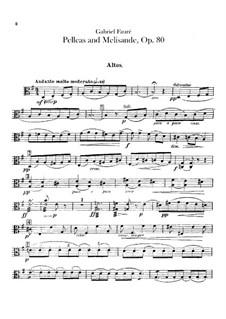 Pelléas et Mélisande, Op.80: Violas part by Gabriel Fauré