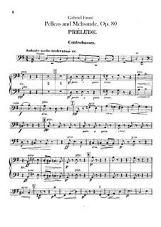 Pelléas et Mélisande, Op.80: Double basses part by Gabriel Fauré