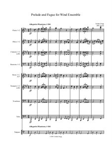 Prelude and Fugue for Wind Ensemble: Prelude and Fugue for Wind Ensemble by Jordan Grigg