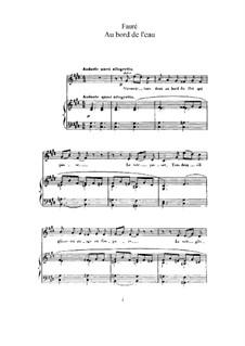 Three Songs, Op.8: No.1 Au bord de l'eau (At the Water's Edge) by Gabriel Fauré