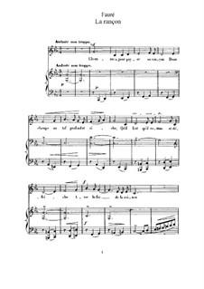 Three Songs, Op.8: No.2 La rançon (C Minor) by Gabriel Fauré