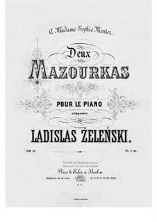 Two Mazurkas, Op.31: For piano by Władysław Żeleński