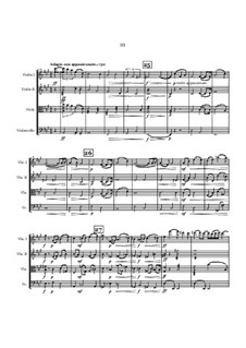 String Quartet No.5 in D minor: 3rd and 4th movements by Jordan Grigg