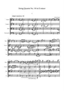 String Quartet No.10 in E minor: String Quartet No.10 in E minor by Jordan Grigg