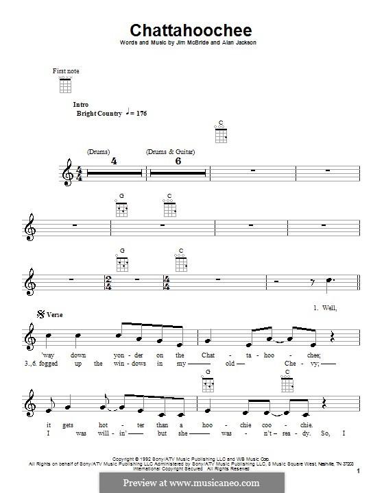 Chattahoochee (Alan Jackson): For ukulele by Jim McBride