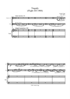 Tragedy (Flight 103 1988): For clarinet, viola and piano by Jordan Grigg