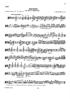 Nocturne for Viola and Piano in D Major, Op.42: Solo part by Ludwig van Beethoven