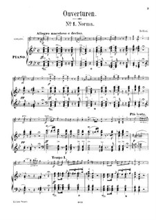 Overture: For violin and piano by Vincenzo Bellini