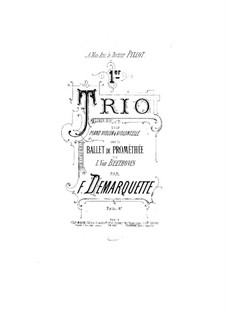 The Creatures of Prometheus, Op.43: Version for violin, cello and piano by Ludwig van Beethoven