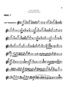 Overture: Oboes I-II parts by Vincenzo Bellini