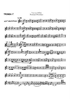 Overture: Trumpets I-II parts by Vincenzo Bellini