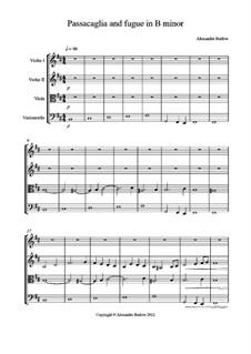 Passacaglia and counterpoint in B minor: Passacaglia and counterpoint in B minor by Alexander Barlow