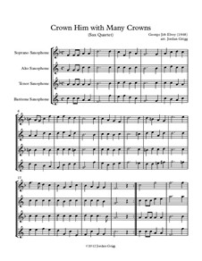 Crown Him with Many Crowns: For sax quartet by George Job Elvey