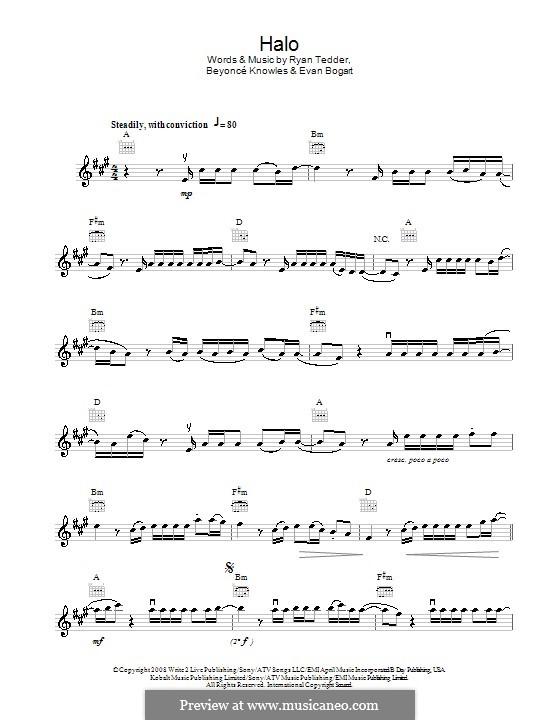 Halo: For violin by Beyoncé, Evan Kidd Bogart, Ryan B Tedder