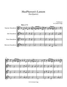 MacPherson's Lament: For sax quartet by James MacPherson