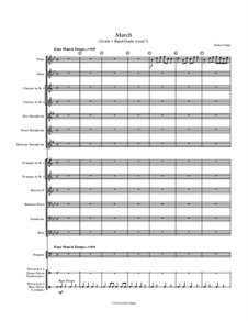 March (Grade 1 Band/Grade 6 and 7): March (Grade 1 Band/Grade 6 and 7) by Jordan Grigg