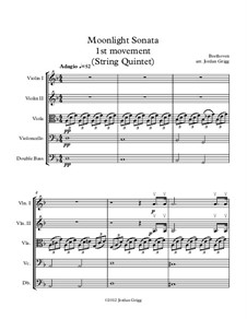 Movement I: For string quintet by Ludwig van Beethoven